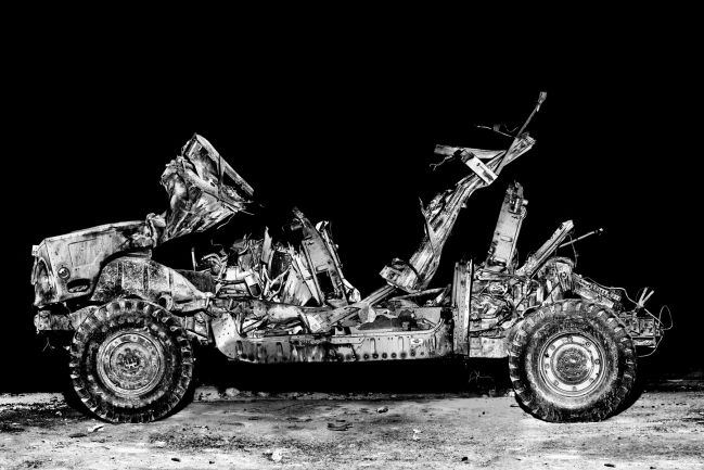 blown up hummer, National Training Center at Fort Irwin
