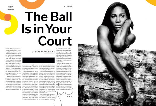 serena williams, wired